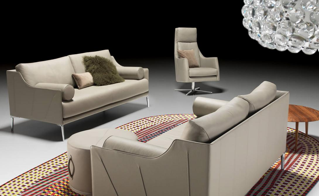artanova switzerland zelos sofa canape exclusiv design moebel furniture meubles beige leder leather cuir