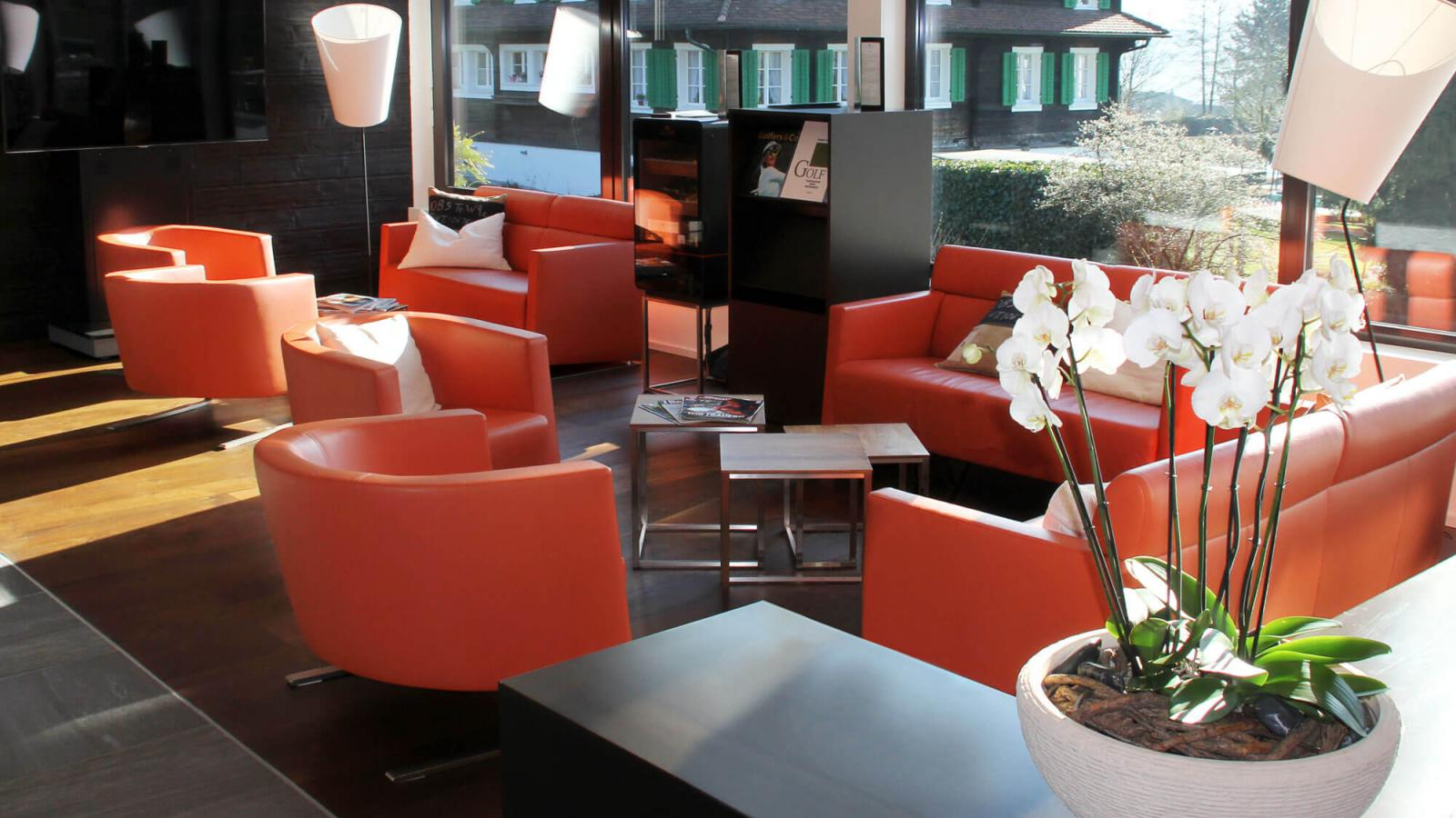 artanova switzerland siros sessel chair fauteuil exclusiv design moebel furniture meubles orange leder leather cuir