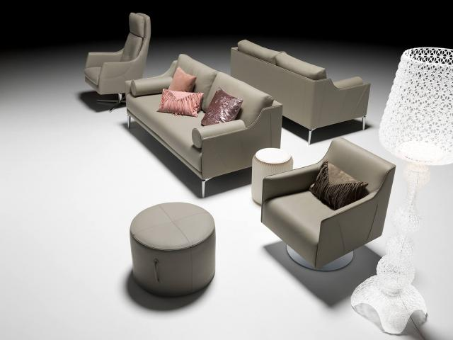 artanova switzerland zelos sofa canape sessel chair fauteuil exclusiv design moebel furniture meubles beige leder leather cuir